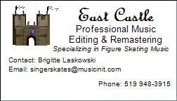 my music editing business card